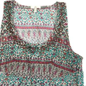 Joie of Anthropologie Embroidered Silk Top